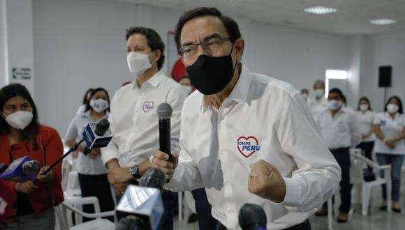 Martín Vizcarra participa como invitado en la lista de Somos Perú, cuyo candidato presidencial es Daniel Salaverry (Foto: Miguel Yovera/El Comercio)