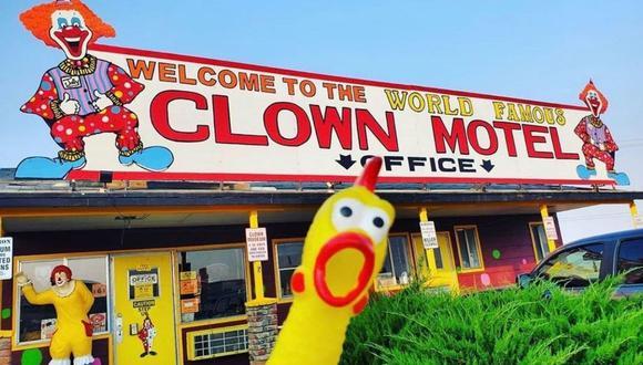 El Clown Motel es un establecimiento muy conocido en Nevada, Estados Unidos. (Foto: @theclownmotelusa | Instagram)