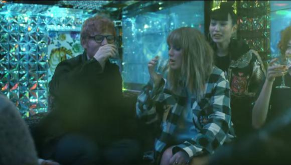 """Taylor Swift y Ed Sheeran vuelven a cantar juntos en el videoclip de """"End Game"""". (Captura/YouTube)"""