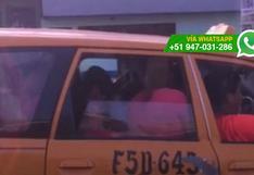 WhatsApp: hasta 20 personas suben y viajan en este taxi (VIDEO)