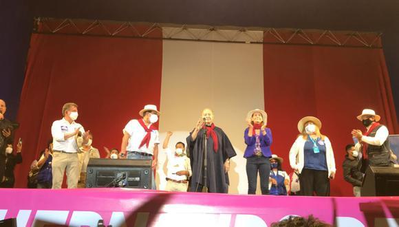 Hernando de Soto realizó un mitin en Arequipa como actividad de cierre de campaña. (Foto: Zenaida Condori/ GEC)