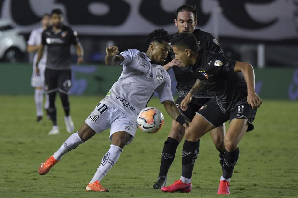 Santos vs. LDU de Quito: imágenes del partido por Copa Libertadores 2020. (Foto: AFP)