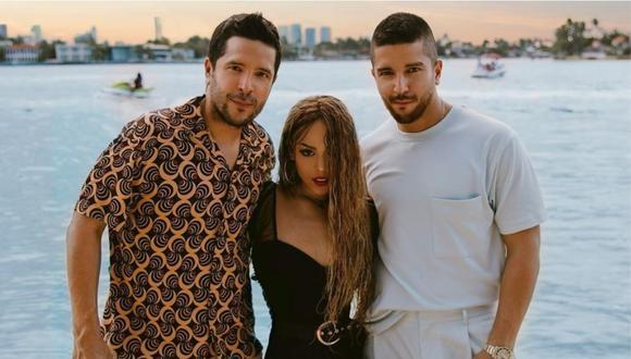 """Danna Paola y el dúo Cali y el Dandee sorprenden tras presentar su tema en colaboración """"Nada"""". (Foto: @dannapaola)"""