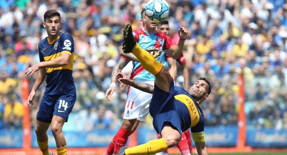 Tevez y su fenomenal golazo en La Bombonera. (Foto: La Nación)