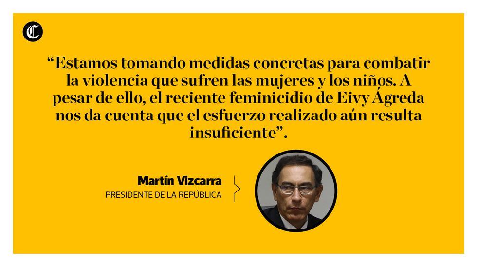 Las frases del mensaje a la nación del presidente Martín Vizcarra. (Composición: Manuel Amaya / El Comercio)