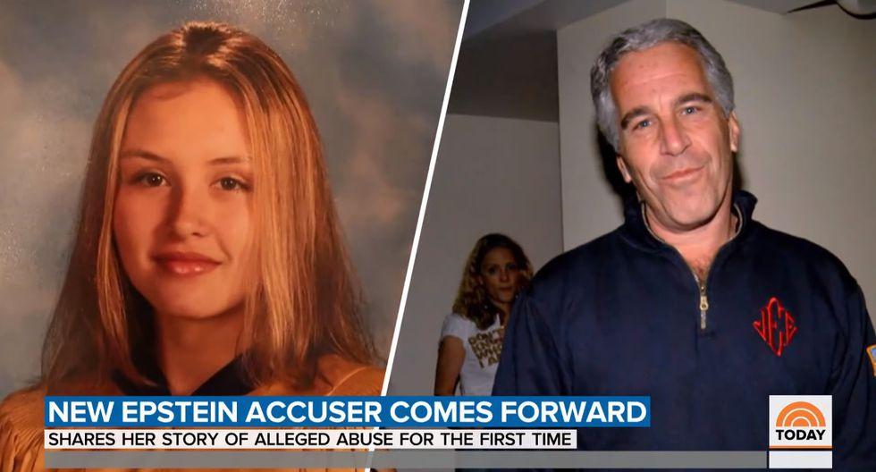 Jennifer Araoz | presunta víctima del multimillonario Jeffrey Epstein demanda a sus herederos. Foto: Captura de video