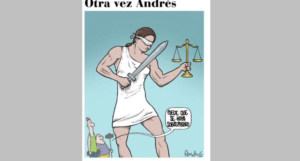 La Justicia es Ciega. ILUSTRACIÓN: Andrés Edery.