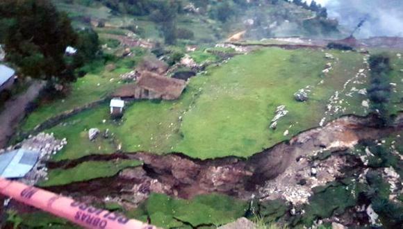 La falla geológica en Cusco ha dejado a 43 familias afectadas. (Foto: Indeci)