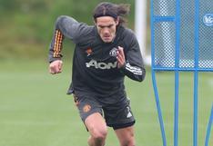Edinson Cavani completó su primer entrenamiento en Manchester United y ya piensa en PSG