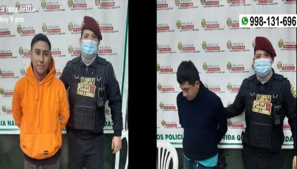 Dos sujetos fueron intervenidos por participar esta madrugada de reunión clandestina en Surquillo. (Captura: América Noticias)