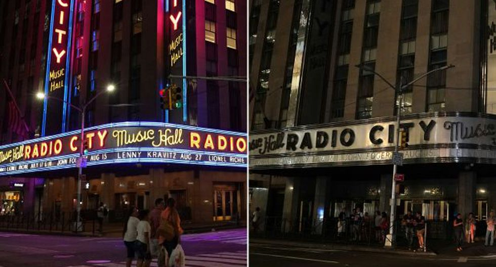 Nueva York con luz y sin luz. El apagón sorprendió a los habitantes de la 'Ciudad que nunca duerme'. (Foto: AFP)