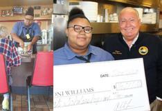Facebook: mesera que ayudó a anciano recibió una beca de US$16.000 | FOTOS