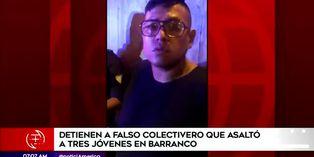 Policía detiene a falso colectivero luego de asaltar a tres jóvenes en Barranco