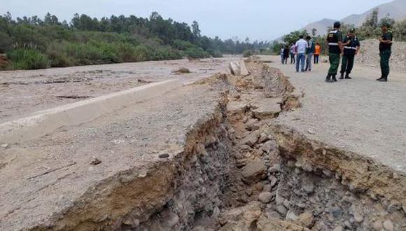 Río Lurín: este son los daños causados por aumento de caudal