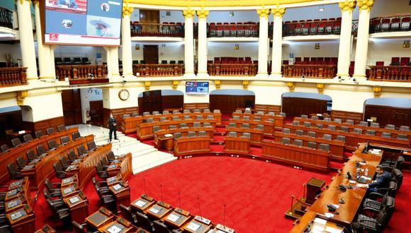 El pleno del Legislativo se reúne de manera virtual durante la emergencia sanitaria. (Foto: Congreso).