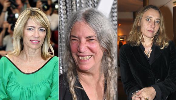 Fuera de estereotipos, Patti Smith, Kim Gordon y Virginie Despentes son mujeres que desafían lo convencional. (Fotos: AFP)