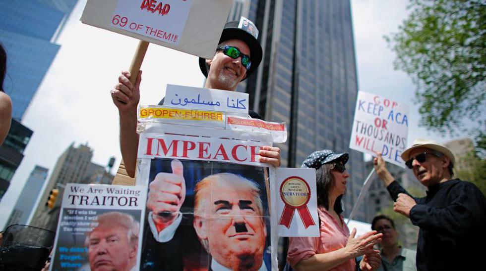 Protestas ensombrecen los primeros 100 días de Trump - 4