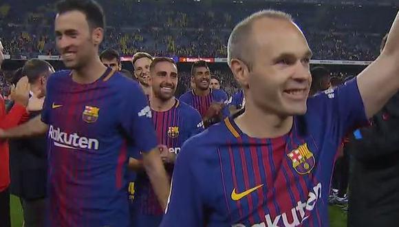 Barcelona vs. Real Madrid: Gerard Piqué pidió pasillo al cuerpo técnico. (Foto: Captura)