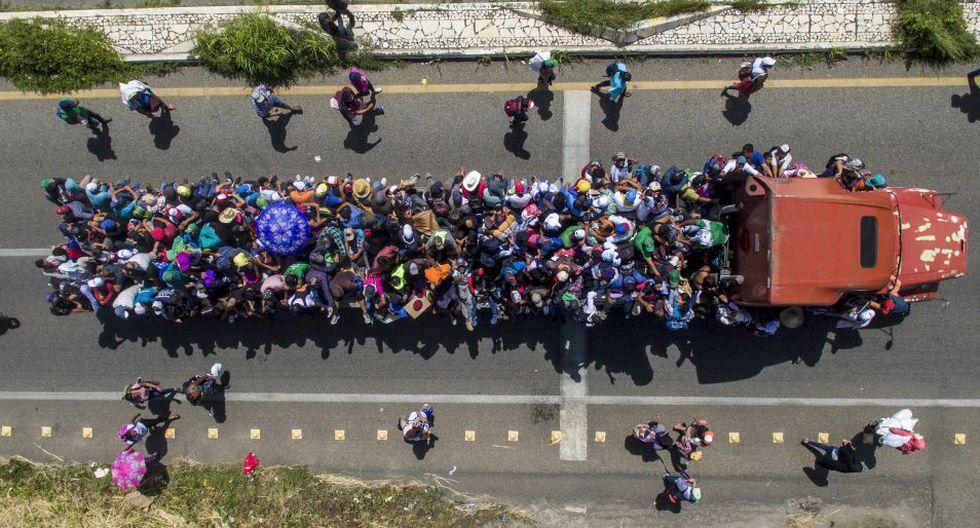 No hay cifras precisas sobre la cantidad de personas que conforman la caravana de migrantes.(Foto: AFP)