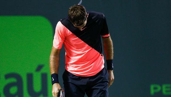 Juan Martín del Potro cayó en el Masters de Miami: John Isner lo venció y jugará la final. (Foto: AFP)