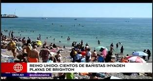 Reino Unido: cientos de bañistas invanden playas de Brighton pese a casos de COVID-19