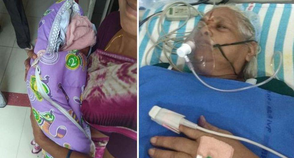 Mangayamma Yaramati tuvo unas gemelas a los 73 años. (Foto: BBC)