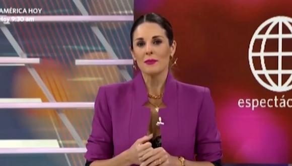 "Rebeca Escribens reveló que se ausentó de ""América Espectáculos"" por posible contagio de COVID-19. (Foto: captura de video)."