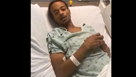 """""""Hay mucha más vida para vivir aquí"""", aseguró Jacob Blake, vestido con una bata desde la cama del hospital en el que permanece después del hecho ocurrido el pasado 23 de agosto y que ha encendido las protestas en la localidad de Kenosha, Wisconsin. (AFP)."""