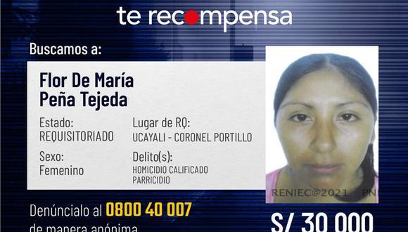 Esta mujer tiene una orden de detención por presuntamente haber asesinado a su esposo y sobrino. (Foto: Mininter)