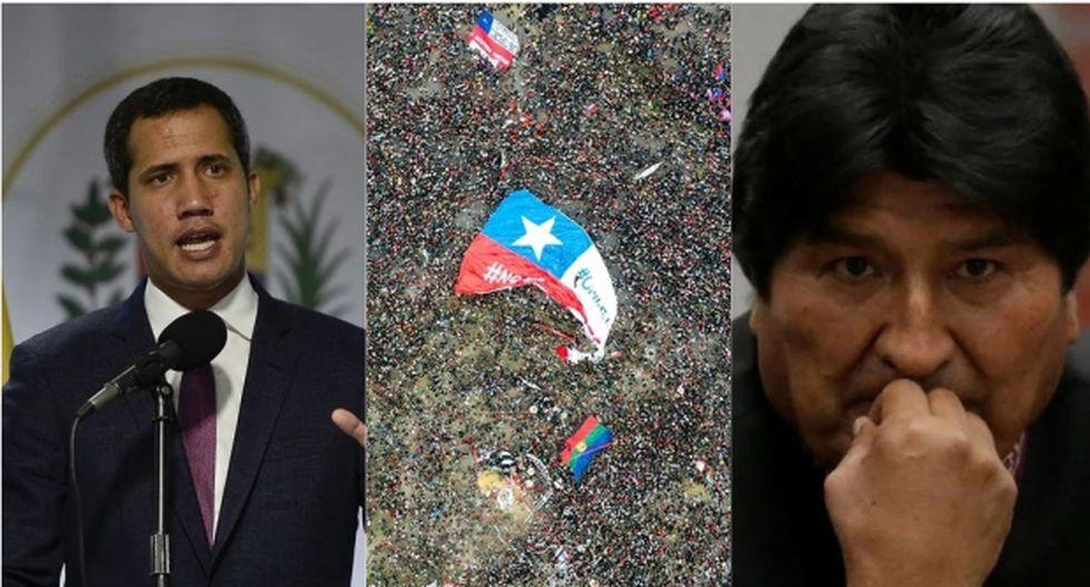 Juan Guaidó, las masivas protestas en Chile y Evo Morales fueron algunos de los personajes y sucesos que marcaron el 2019 en la región.