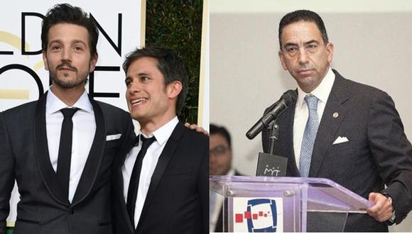 Gael García y Diego Luna se enfrentan al senador Javier Lozano. (Fotos: Agencia / GDA / El Universal de México)