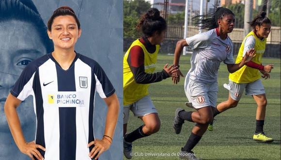 Cindy Novoa dejó Universitario para vestir la camiseta de Alianza, mientras las cremas siguen sin poder entrenar para la Copa Libertadores Femenina. (Foto: Alianza / Universitario)