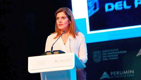 Araóz participó en la ceremonia de clausura de la convención minera Perumin. (Foto: Difusión)