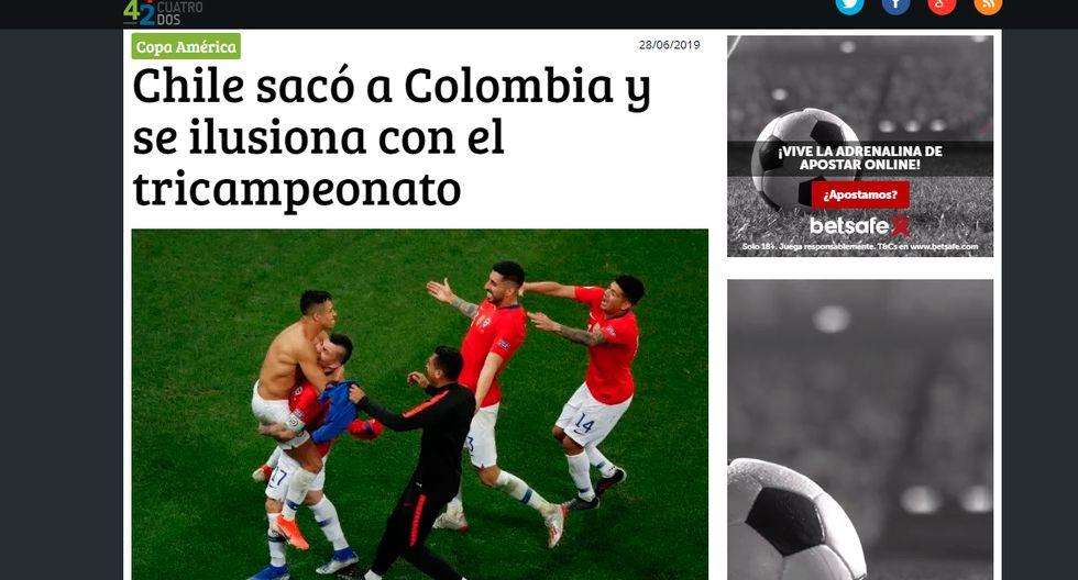 Así informaron los medios internacionales la clasificación de Chile en la Copa América. (4-4-2 de Uruguay)