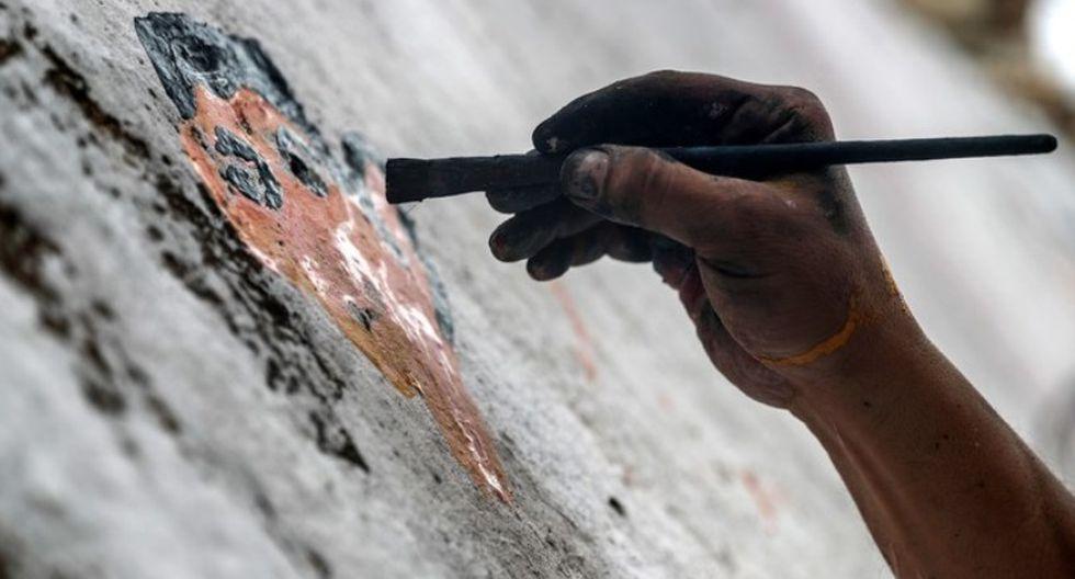 El sirio que pinta grafitis sobre la guerra [FOTOS]