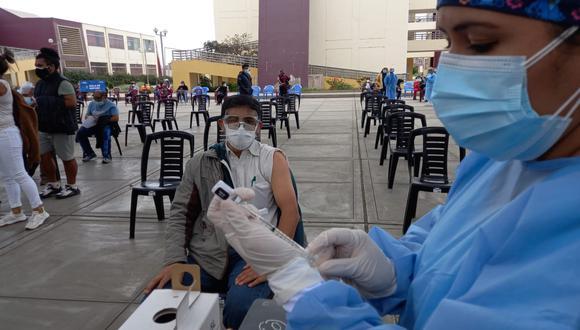 La campaña de vacunación en La Libertad ha avanzado en un 14%, según el GORE. Actualmente, se está vacunando a mayores de 50 años. (Foto: Gore La Libertad)