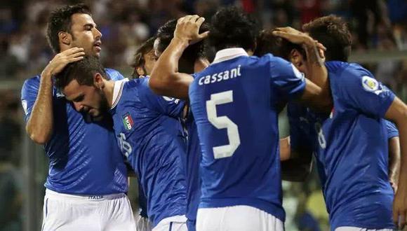 Italia empató 0-0 contra Irlanda en su preparación a Brasil