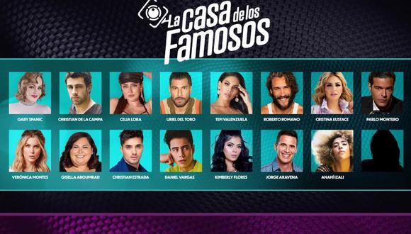 """Estos son los concursantes de """"La casa de los famosos"""", el reality que Telemundo estrenó el 24 de agosto de 2021 por Telemundo (Foto: Telemundo)"""