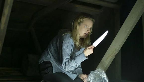 """""""El hombre invisible"""". Cecilia Kass (Elisabeth Moss), lista para defenderse de lo que no puede ver. Foto: UIP."""