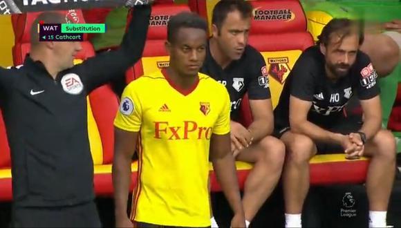 Un nuevo futbolista peruano hizo su aparición en el poderoso campeonato inglés. Se trata de André Carrillo, quien inició su nueva aventura con el Watford. (Foto: captura de video)