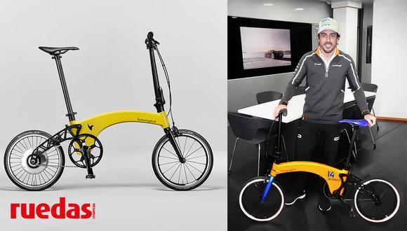 Con tan solo 2 horas y media de carga, la bicicleta eléctrica de Fernando Alonso ofrece una autonomía de 30 km.