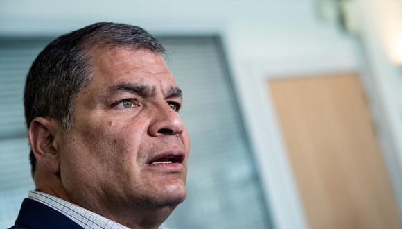 Elecciones Ecuador 2021: Rafael Correa reconoce el triunfo de Guillermo Lasso y le desea suerte. (Foto: Kenzo TRIBOUILLARD / AFP).