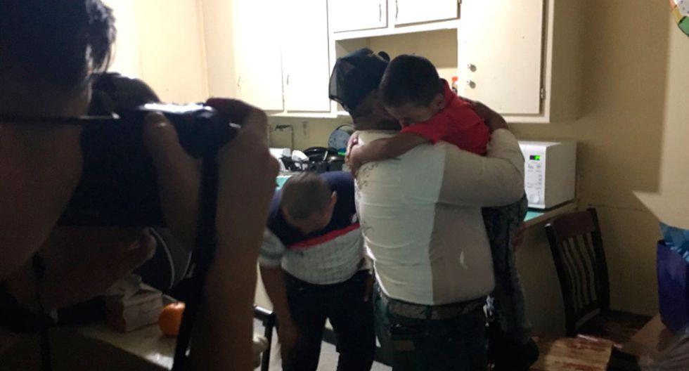 El encuentro del padre y su hijo fue conmovedor en las redes sociales. (Foto: captura)