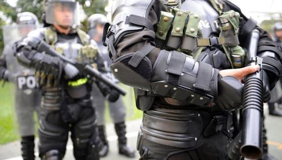 Protestas en Colombia: qué es el Esmad, el cuestionado escuadrón antidisturbios señalado por las muertes de manifestantes en ese país. (Foto: AFP)