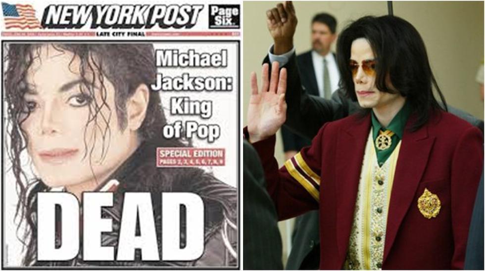 Así informaron la muerte de Michael Jackson. (Foto: Difusión / Archivo)