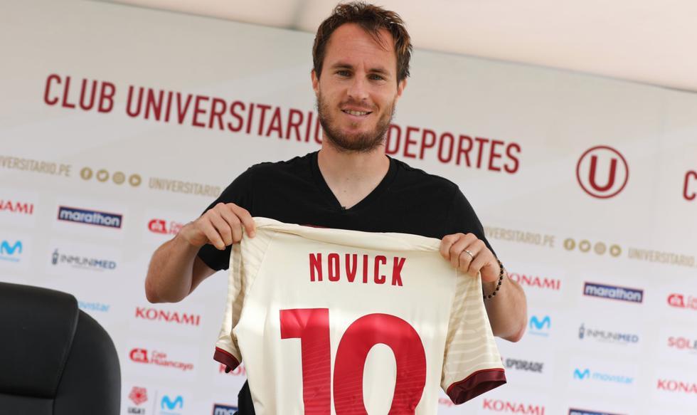 Hernán Novick fue presentando en Universitario de Deportes
