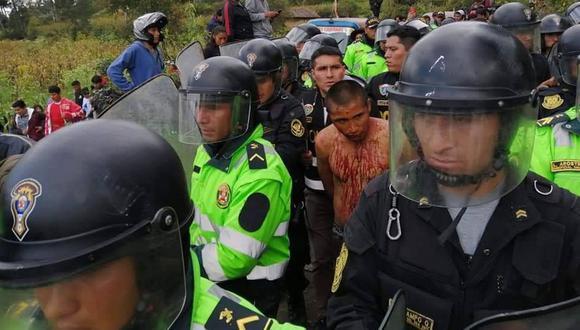 Los ciudadanos de Andahuaylas intentaron linchar a Michael Oscco Quispe. (Foto: Cusco en Portada)