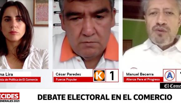 Candidatos regionales al Congreso expusieron sus propuestas en El Comercio.