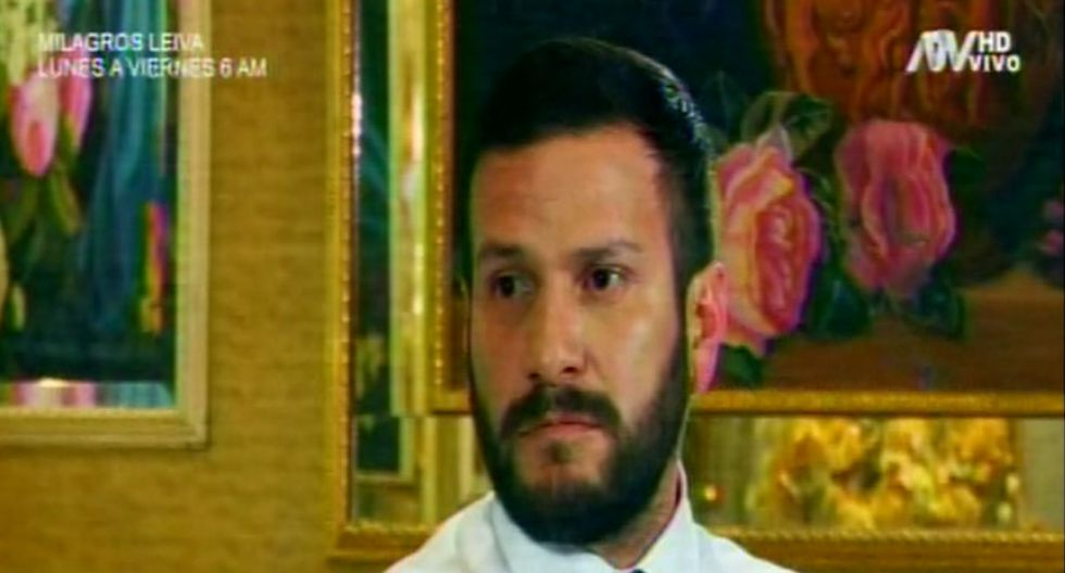 Miguel Hidalgo se presentó en TV para aclarar una presunta infidelidad.  Foto: Captura de pantalla
