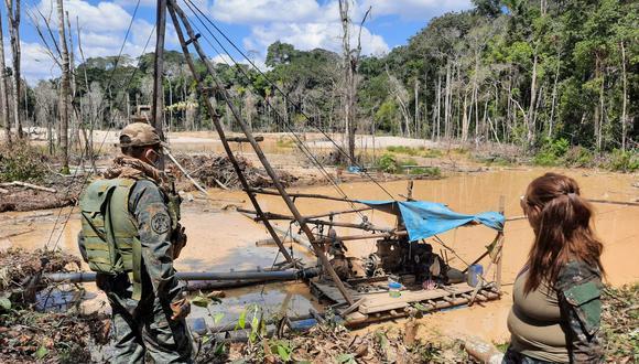 Minería ilegal en Pariamanu. Foto: FEMA Madre de Dios.